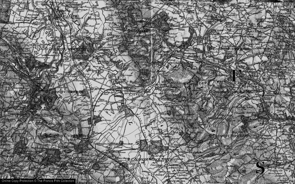 Old Map of Aberwheeler, 1896 in 1896