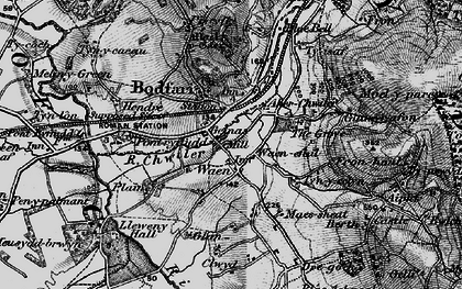 Old map of Aberwheeler in 1896