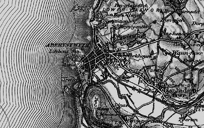 Old map of Aberystwyth in 1899
