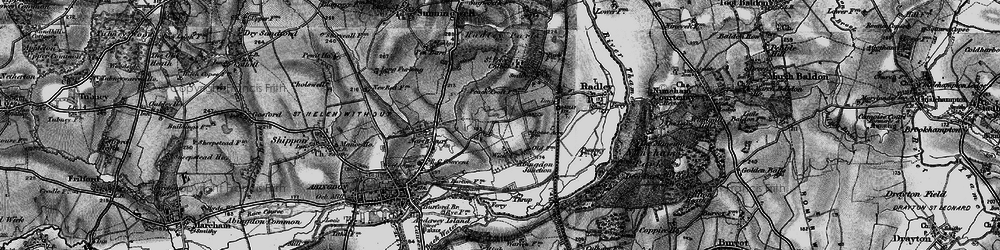 Old map of Wick Hall in 1895
