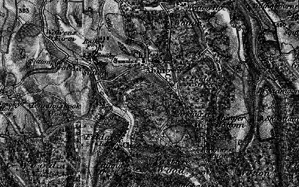 Old map of Abinger Common in 1896