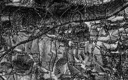 Old map of Abinger Hammer in 1896