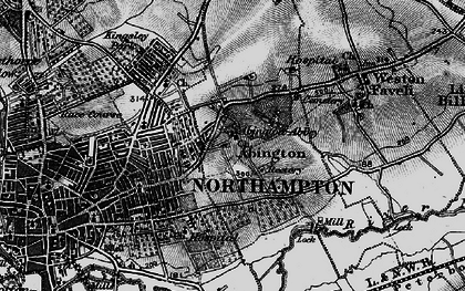 Old map of Abington in 1898