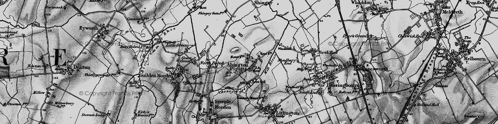 Old map of Abington Pigotts in 1896
