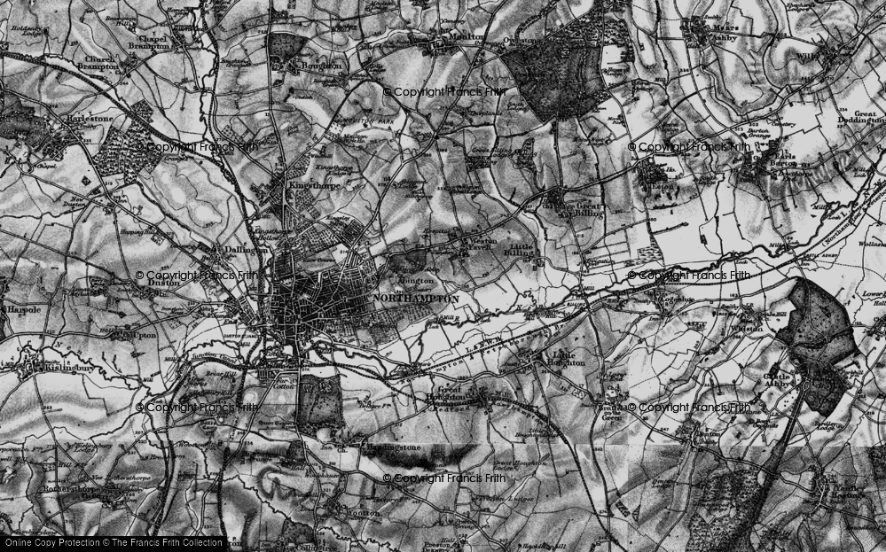 Old Map of Abington Vale, 1898 in 1898