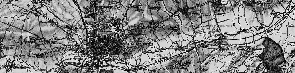 Old map of Abington Vale in 1898