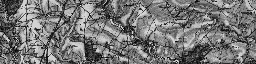 Old map of Ablington in 1896