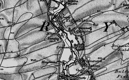 Old map of Ablington in 1898