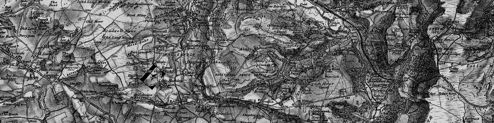 Old map of Abney in 1896