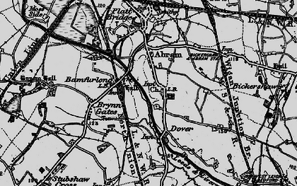 Old map of Abram in 1896