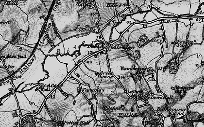 Old map of Abridge in 1896