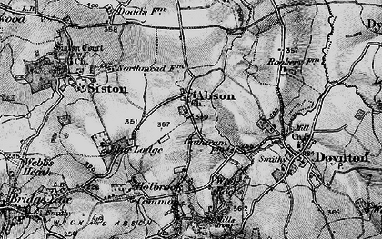 Old map of Abson in 1898