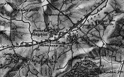 Old map of Abthorpe in 1896