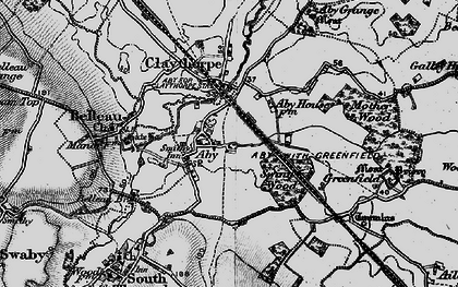 Old map of Aby in 1899