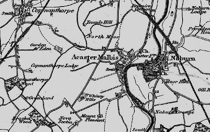 Old map of Whinny Hills in 1898