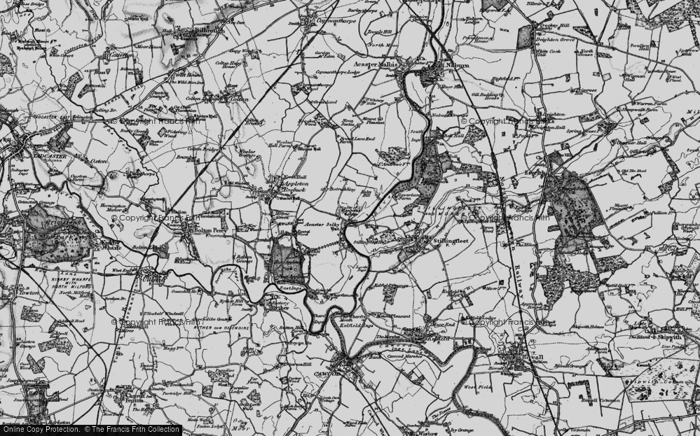Old Map of Acaster Selby, 1898 in 1898