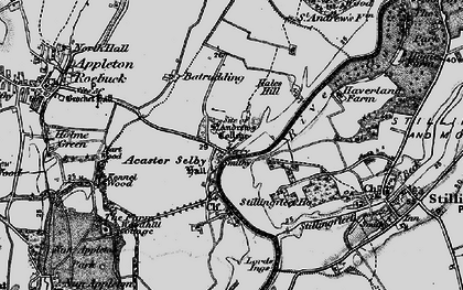 Old map of Acaster Selby in 1898