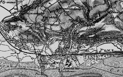 Old map of Achddu in 1896