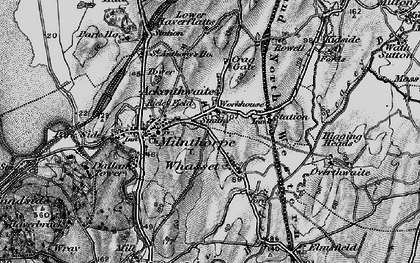 Old map of Ackenthwaite in 1898