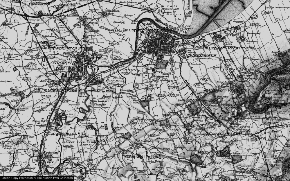Old Map of Acklam, 1898 in 1898