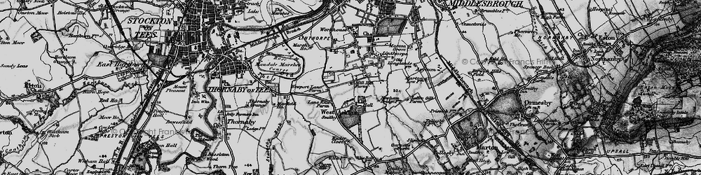 Old map of Acklam in 1898