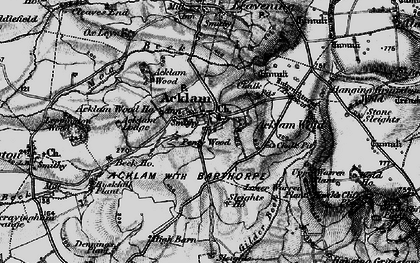 Old map of Back Warren Plantn in 1898