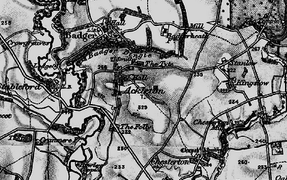 Old map of Ackleton in 1899