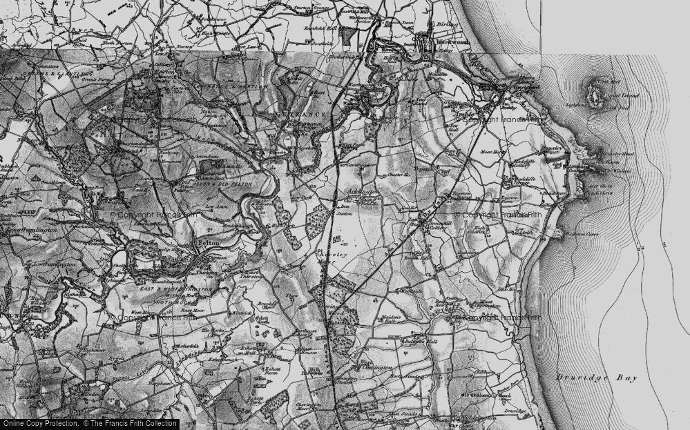 Old Map of Acklington, 1897 in 1897