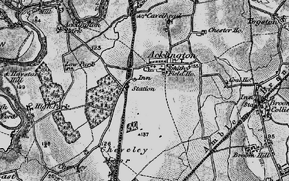 Old map of Acklington in 1897