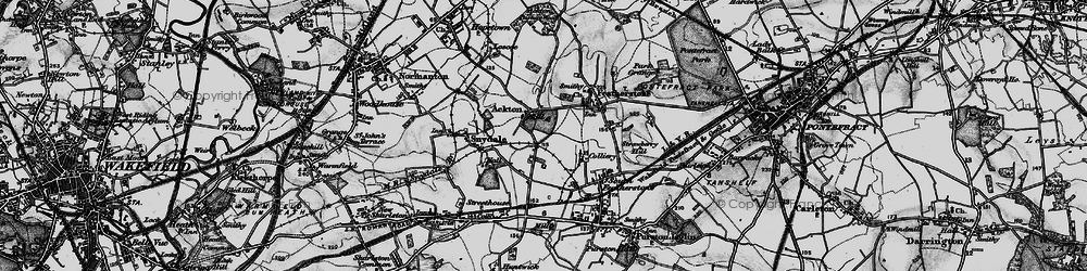 Old map of Ackton in 1896