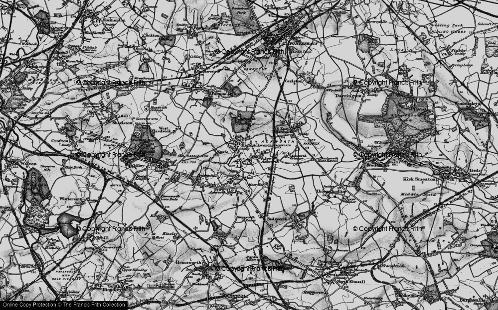 Old Map of Historic Map covering Ackworth Grange in 1896