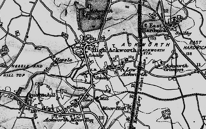 Old map of Ackworth Grange in 1896