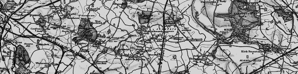 Old map of Ackworth School in 1896