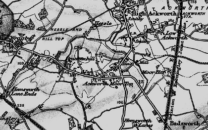 Old map of Ackworth Moor Top in 1896