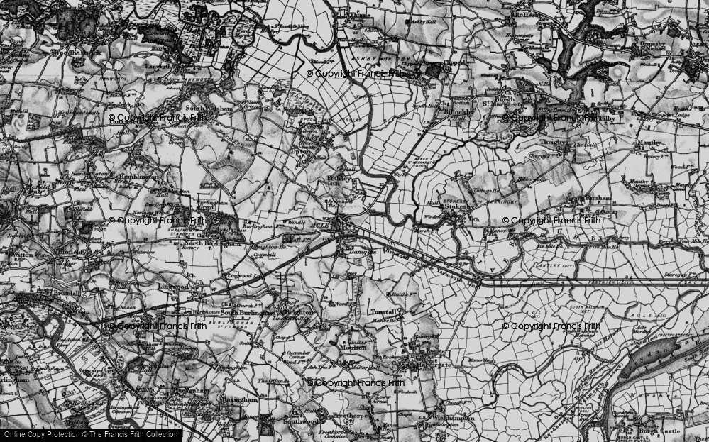Old Map of Acle, 1898 in 1898