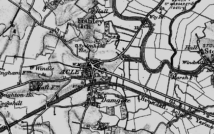 Old map of Acle in 1898