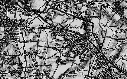 Old map of Acock's Green in 1899
