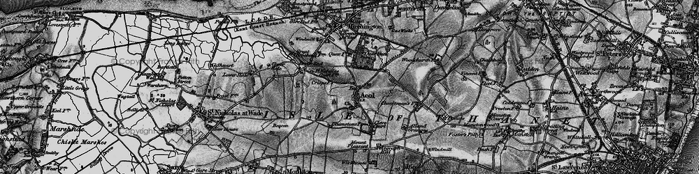 Old map of Alland Grange in 1894
