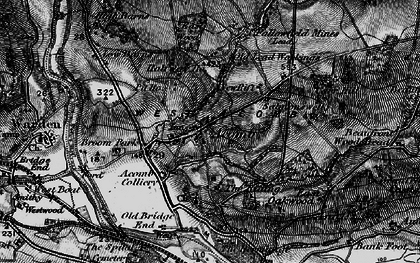 Old map of Acomb in 1897