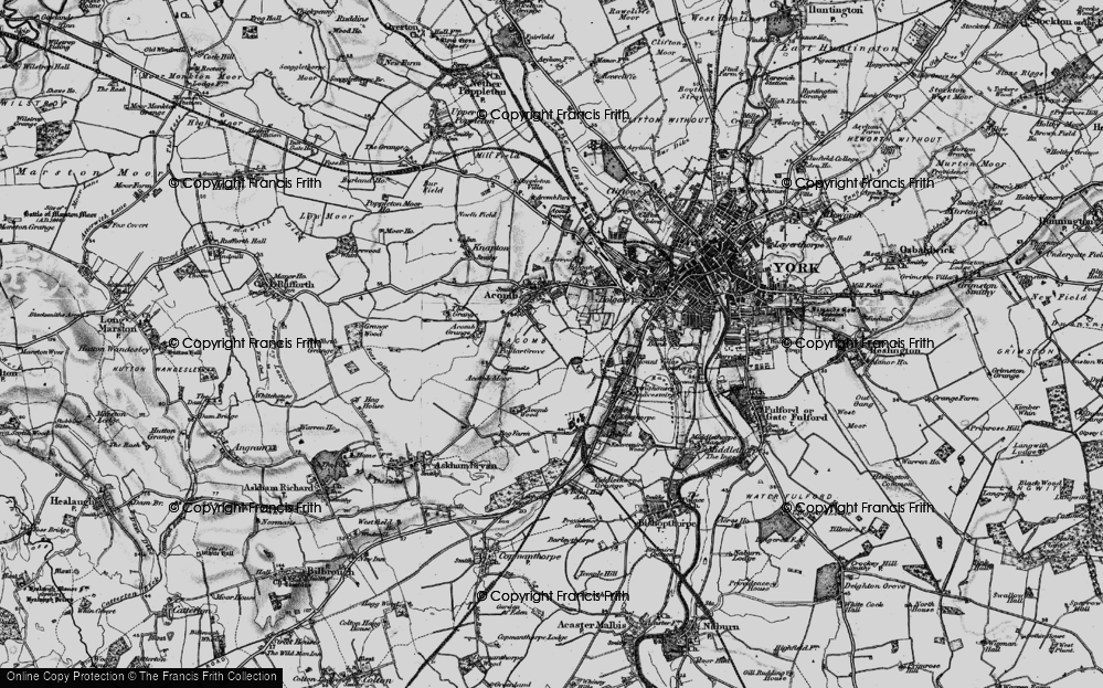 Old Map of Acomb, 1898 in 1898