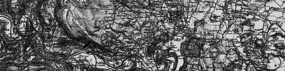 Old map of Acrefair in 1897