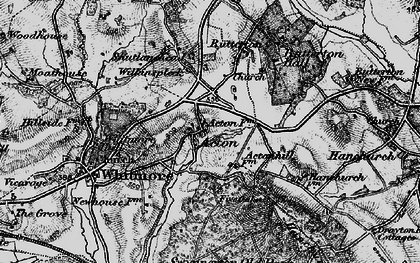 Old map of Acton in 1897