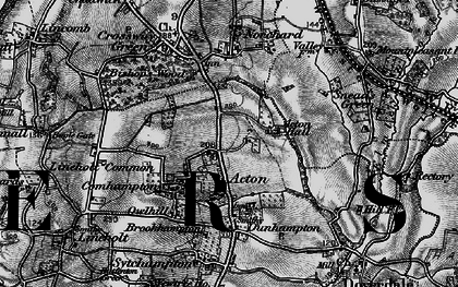 Old map of Acton in 1898