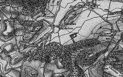 Old map of Acton in 1899