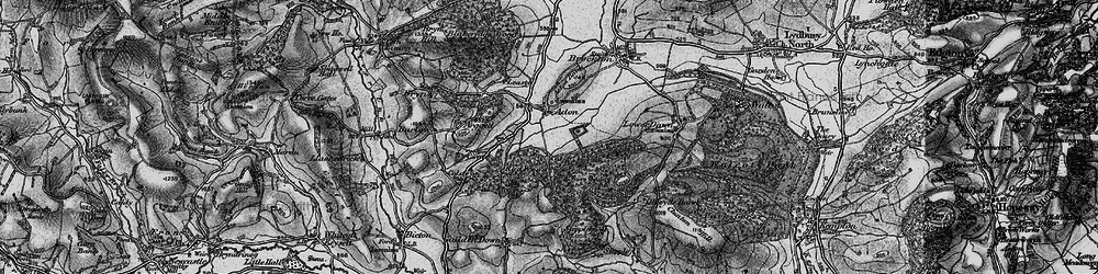 Old map of Withins Wood in 1899