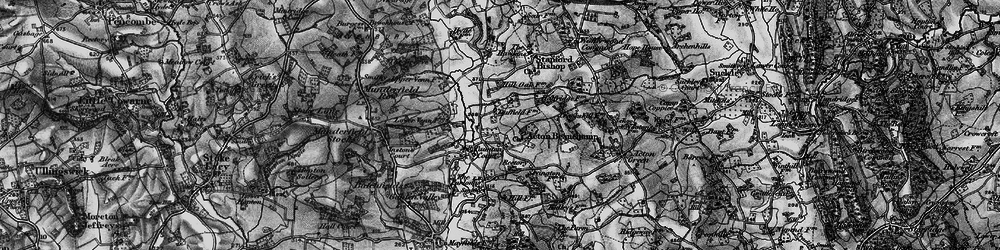Old map of Acton Beauchamp in 1898