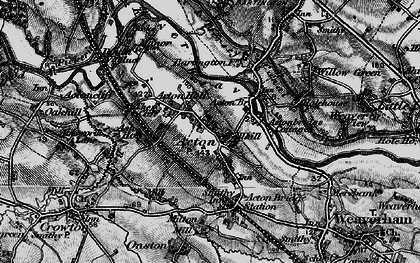Old map of Acton Bridge in 1896
