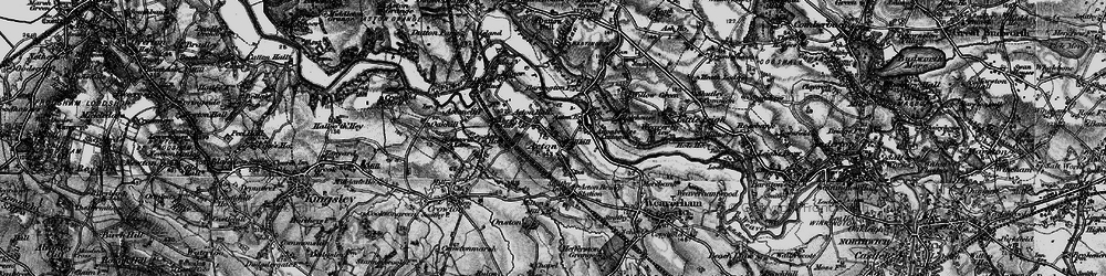 Old map of Acton Bridge in 1896