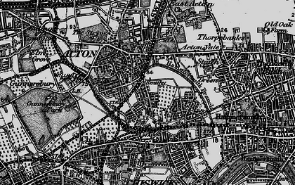 Old map of Acton Green in 1896