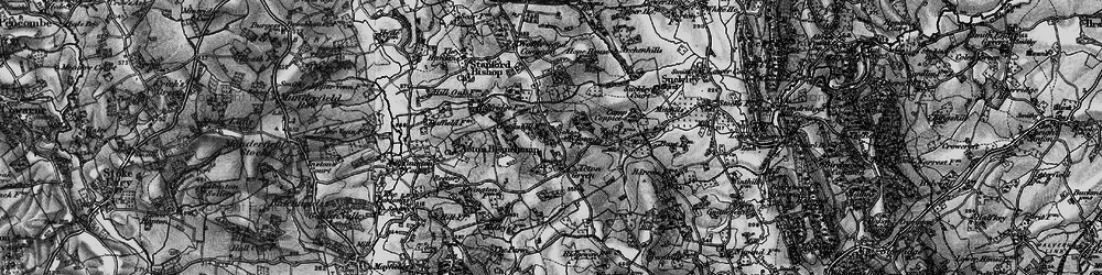 Old map of Acton Green in 1898